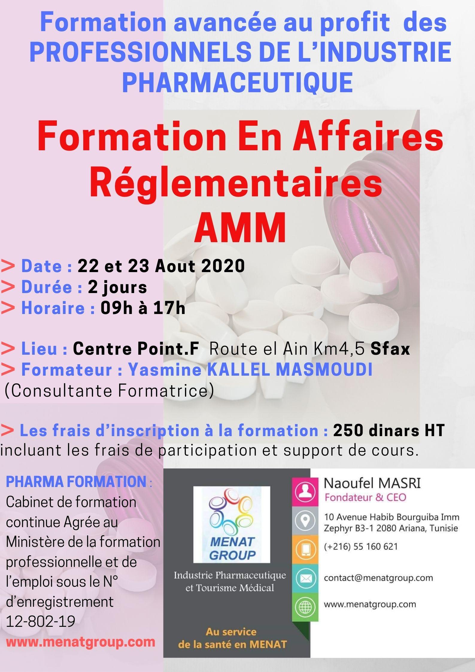 FormationEn Affaires Réglementaires AMM